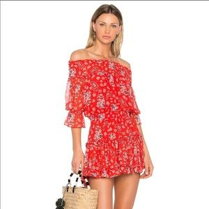BRAND NEW Misa LA Darla off shoulder dress
